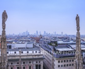 Paesaggio urbano di Milano in Italia