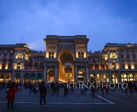 Milan, Gallery Vittorio Emanuele II in square of Duomo in Italy