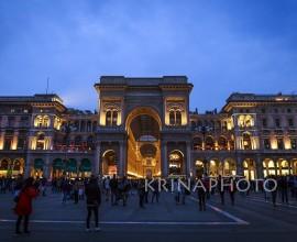 Galleria Vittorio Emanuele II in piazza Duomo a Milano, Italia.