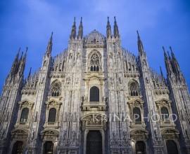Duomo di Milano al tramonto, Italia.
