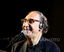 Franco Battiato in the concert.