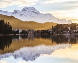 Paesaggio del lago di St Moritz.