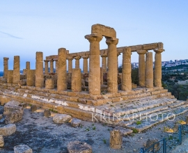The Valley of the Temples of Agrigento in Sicily. Temple of Giunone.
