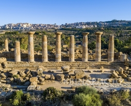 The Valley of the Temples of Agrigento in Sicily. Temple of Herakles.