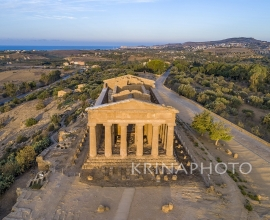 The Valley of the Temples of Agrigento in Sicily. Temple of  Concordia.